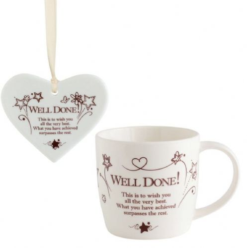 Said with Sentiment Well Done Ceramic Mug & Heart Gift Set